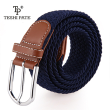elastic belt knitted canvas belt decoration belt female pin buckle canvas strap women and man 2017(China)