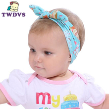 TWDVS 1PC Baby Headwear Cute Rabbit Ears Print Bow Headband Beautiful and Comfortable Newborn Children Hair Accessories KT051