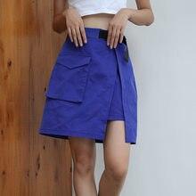 Automne Hiver 2018 Mode Coréenne Jupes Avec En Plastique Boucle Ceinture  Femmes Streetwear Noir Taille Haute f4d0640fa3d