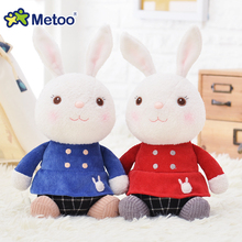 Official METOO Plush Sitting Tiramitu Red&Blue Cute Bunny Cartoon Metoo Toys with Bow Skirts Stuffed Tiramisu Dolls Collection(China)