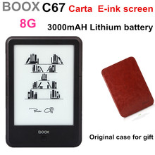 Original Frontlight  ONYX BOOX C67ML Carta E book +case with 3000mAH lithium battery Touch Eink Screen EBook Reader 8G WIFI