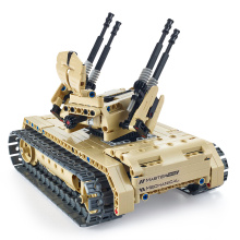 Utoghter DIT TOY 502Pcs 69004 2.4G RC Battle Tank Building Blocks Kits Toy Bricks Anti-aircraft Tank Car Model RC Tank