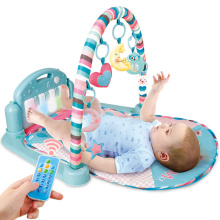 0-18 months baby Music fitness rack Newborns music pedal piano children's educational toys warm colors music sounds 4 optional