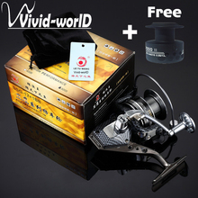 High Quality Spinning reel Metal body Mix drag 15kg/32lb Super strength 12BB fishing reel Saltwater for sea fishing(China)