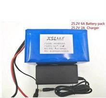 24 V 6ah 6s3p 18650 rechargeable Li ion battery 25.2 V6000 MAH moped electric bicycle / Electric battery pack +Charger 25.2 V 2A