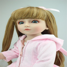 17 Inches Soft Silicone Dolls Lovely Joints Girl  Europe and the United States Playmate Toys Dress and Make Up Box