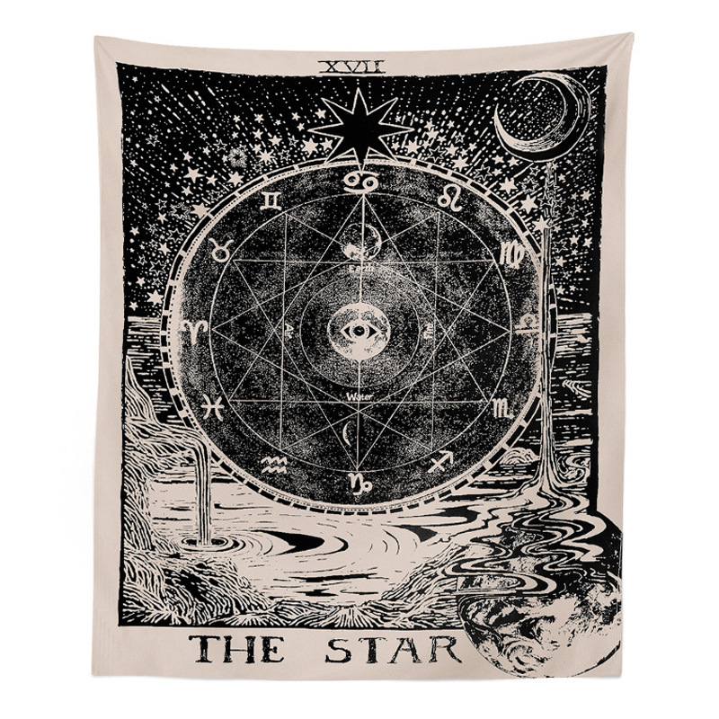 1pcs 150x130cm Large Tapestries Cover Tarot Style Wall Hanging Tapestry Magical Moon Sun Printed Bedspread for Home Bedroom