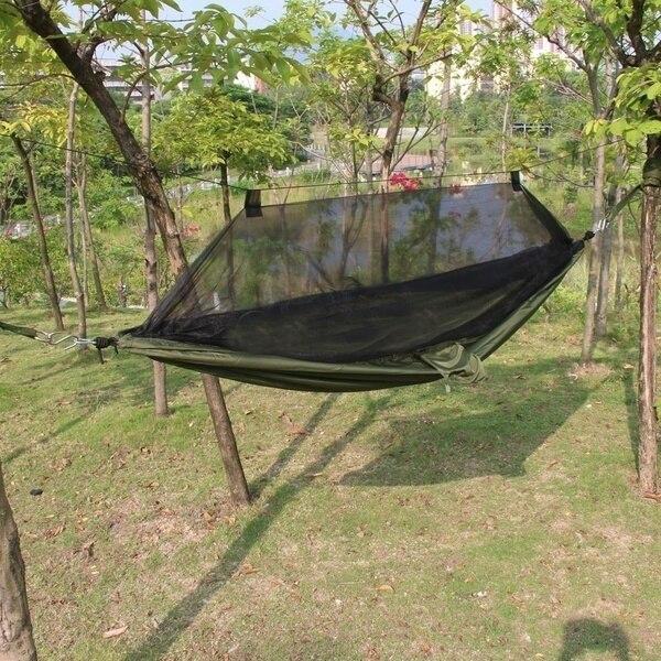 Палатка Travel Outdoor Camping, Висящая Гамак противомоскитной сетки Гамака, Спя Зеленая армия Мешка Кровати