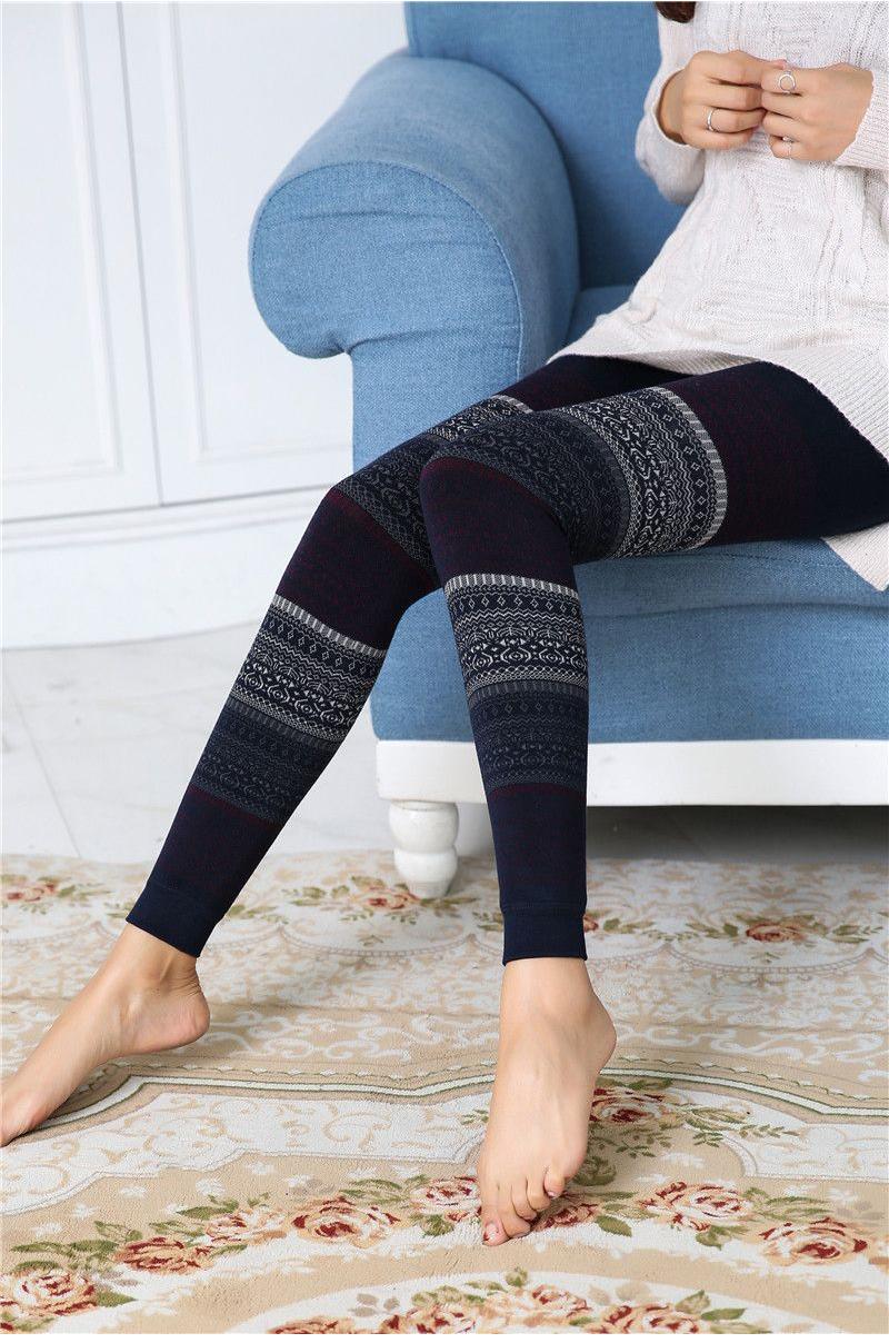 Winter Leggings, Women's High Waist Warm Leggings 8