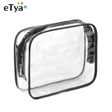Environmental Protection PVC Transparent Cosmetic Bag Women Travel Make up Toiletry Bags Makeup Organizer Case Free Shipping(China)