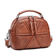 New Luxury Brand women messenger crossbody bags Top Handle Retro Ladies shoulder bag women's leather handbags Totes female 2017(China)