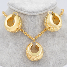 Sunny Jewelry Bridal Wedding Unique Jewelry Sets Big Hoop Earrings Pendant Women Copper Ball Flower For Party Statement Jewelry