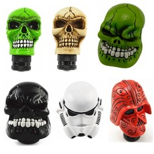Gear Shift Knob Universal Car Manual Gear stick Shift Shifter Lever Knob Wicked Carved Skull refit Decoration Gear Stick