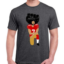 United We Stand Colin Kaepernick Kneeling in Silent Protest T Shirts Men's Tees big sizeS-XXXL(China)