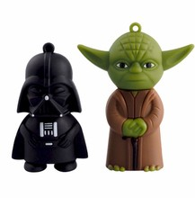 star wars 128GB Pen Drive full capacity 8GB 16GB USB Flash Drives dark Darth vader 64GB 32GB Yoda Pendrives USB 2.0 Memory Stick(China)