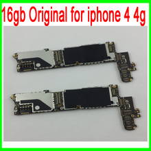 16gb Original unlocked for iphone 4 Motherboard with Chips,Complete Logic Boards for iphone 4 4g,Good Working