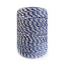 Electric Fence Poly Wire White Blue Polywire with Steel Wire Poly Rope For Horse Fencing Ultra Low Resistance Hot Wire Fencing(China)