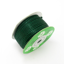 2MM Braided Cord Bead Rope 25m/lot Dark Green Wire DIY For Jewelry Findings