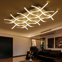 New Style White Modern acrylic LED ceiling mounting Modern LED Chandelier For Living Room lustres de sala de acrylic chandeliers