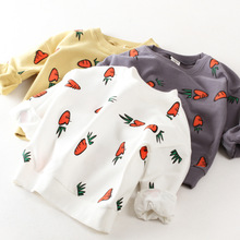 Buy Baby Girls T Shirts Carrot Long Sleeve Sweatshirts Children Outerwear Coat Kids Jumpers Boys Clothes 2017 Autumn Girl Tops for $11.82 in AliExpress store