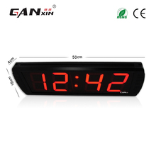 [Ganxin]4'' Low Voltage Led Stopwatch Clock Digital Wall Clock with Factory Price