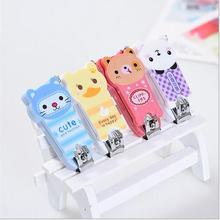 Cute Nail Clipper Mini Cartoon Baby Nail Clipper Infant Scissors Trimmer Nail clipper With Hanging Keychain random color A4