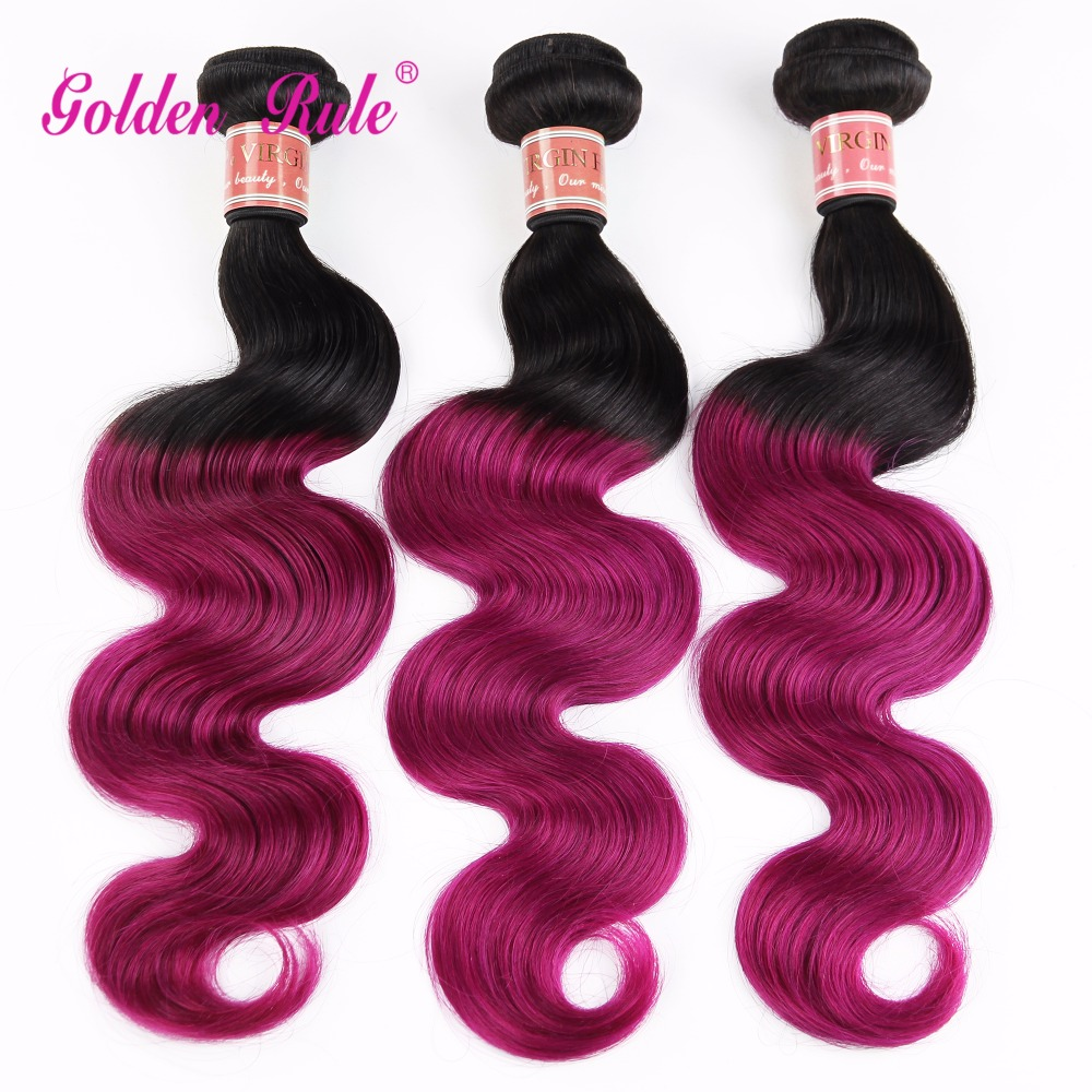 Top fashion  Human Hair Weaves Ombrebody wave Hair Extensions Set Top Grade 6ATwo Tone Brazilian Hair Extensions 100g/Pack<br><br>Aliexpress