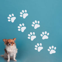 Dog Paws Wall Stickers Removable Wall Decal Pet Shop Vinyl Decal Sticker Grooming Salon Decor Art Design Wall Tattoo SA489