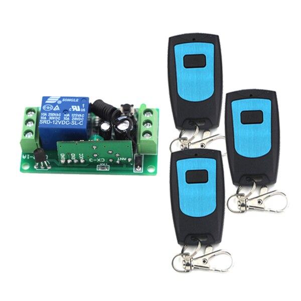 MITI- 12V 1CH RF Wireless Remote Control Switch System 315/433 MHZ 3Transmitter + 1Receiver SKU: 5257<br><br>Aliexpress