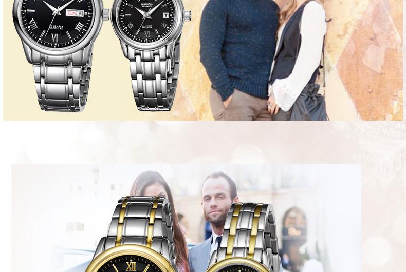 1 Pair GUANQIN Lovers Mechanical Watches Couple Automatic Watch Men Women Clock Auto Date Luminous Waterproof Brand Watch Men (14)