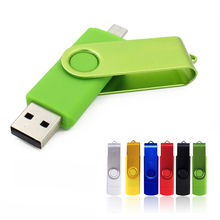 USB Flash Drive 128gb Pen Drive 64gb 32gb USB2.0 pendrive 8gb OTG external storage micro usb memory stick Flash Drive 32 gb(China)