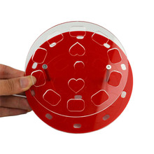 10 Holes Clear Cosmetic Display Stand Oval Makeup Brush Holder Stand Drying Rack Organizer Shelf Tools