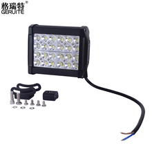 1pcs 72W 24*3W Waterproof LED Work Light Offroad Boat Car Vehicle Driving Boat For SUV Constructions 12V 24V,AU Warehouse