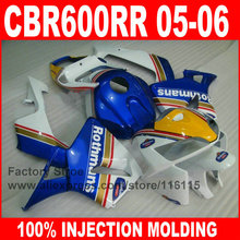 7gifts custom Injection motorcycle parts for HONDA 2005 2006 CBR 600RR 05 06 CBR600RR fairings Rothmans body repair fairing kits