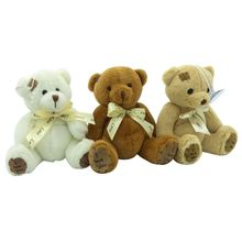 1pc 15cm Patch Bear Dolls Teddy Bear Soft Toy Bear Wedding Gifts Baby Toy Birthday gift brinquedos Soft toys