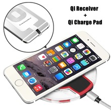 2017 New LED Lights Tablet Wireless Charger Kit for iPhone 7 7S 6 6S 5 SE 5S Qi Phone Charger Pad & Receiver
