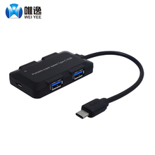 weiyee USB 3.1 Type C to 4 port USB 3.0 High Speed USB Hub support transfer rates up to 5Gbps For Laptop MacBook Mac(China)