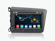 android 5.1.1 quad core 1024*600 HD LCD car dvd player for honda civic 2012 2013 gps navi stereo 3G dvr wifi FREE MAP AND CAMERA