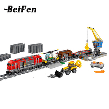 City 60098 Heavy Haul Train Technic Engineering Remote Control Train Building Toy Blocks Bricks toys for Children Lepine 02009