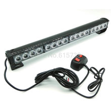 White Blue Amber Red Green 16 LED Strobe Light Fireman Flashing Police Emergency Warning Fire Flash Car Truck led light bar