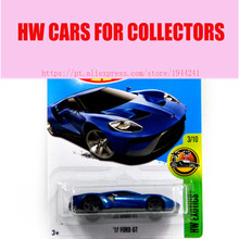 Alloy Mini Roadster Diecast Cars Blue 17 Ford GT Models For Collection Wholesale Metal Cars Hot Wheels 1:64 toys(China)