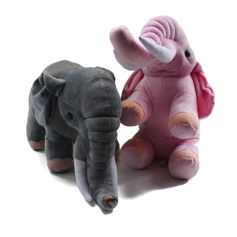 New Plush Toys Elephant Simulative Elephant Dolls Best Gifts for Kids Girls Pink Toys for Best Friends 45*20*25<br><br>Aliexpress