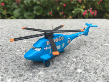 KK01--Pixar Car Movie 1:55 Metal Diecast Dinoco King Helicopter Toy Cars Plane New Loose