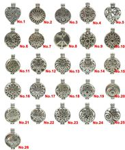 Free shipping Sunflower Wheel Heart Web Peace Butterfly Star Perfume Diffuser Locket