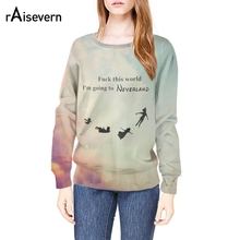 Raisevern new harajuku 3D hoodies flying people funny printing 3d sweatshirt fashion fitness pullovers tops drop ship(China)