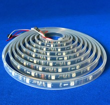 promotion!! 5m DC12V WS2811 150LEDs (10pixes/m) led digital strip;waterproof in silicon tube;IP66;BLACK PCB(China)