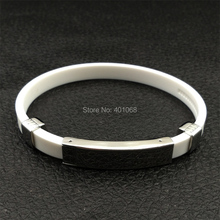 The manufacturer custom stainless steel magnetic stone anti-fatigue energy bracelet, titanium steel beads silicone bracelet(China)