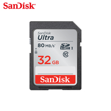 High speed Sandisk SD card Class10 16gb 32gb 64gb 128GB 80Mb/s Original TF card memory card flash real capacity stick for camera(China)
