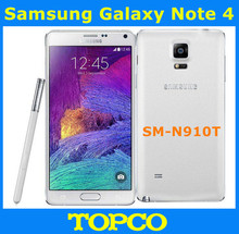 "Buy Samsung Galaxy Note 4 N910T Original Unlocked 3G&4G GSM Android Mobile Phone Quad-core 5.7"" 16MP 32GB WIFI GPS for $242.00 in AliExpress store"