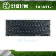 "Original Hight Quality A1534 Keyboard UK For Macbook 12"" A1534 MF855LL/A MF865LL/A Keyboard Without Backlight Early 2015 Year(China)"